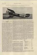 1921 Bristol 10 Seater Aeroplane Single-engine Napier Lion