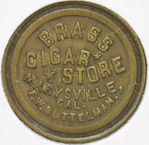 Marysville, CA 5 Cents Token Brass Cigar 293139 combine shipping