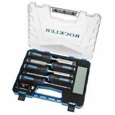 Rockler 5-Piece Through-Tang Chisel Set Plus Honing Guide and Stone