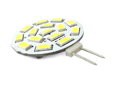 2 Lampadine LED G4 Bispina DC AC 12V 24V 3,5W  Bianco Caldo 15 SMD 5630 10V-30V