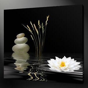 ZEN FLOWER CALM RELAXING MODERN DESIGN CANVAS PRINT READY TO HANG