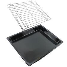 Large Roasting Oven Tray Base Tin & Folding Shelf Rack for HOTPOINT INDESIT