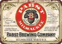 """Pabst Blue Ribbon Beer Brewing Company Rustic Retro Metal Sign 8"""" x 12"""""""