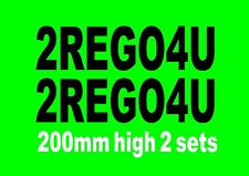 Boat rego numbers 200mm high 2 sets 10 fonts to choose from many colours.