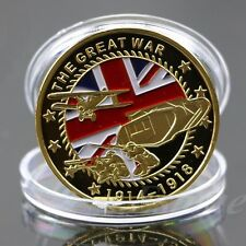 Gold Plated Colored The Great War Commemorative Coin Art Collection Collectible