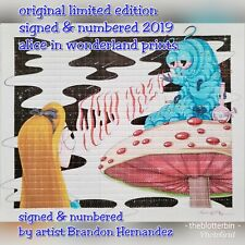 2019 limited edition Alice in wonderland perforated BLOTTER ART psychedelic art