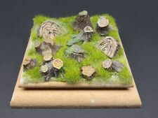 Reality In Scale 35172 - Tree stumps & Mushroom set - resin diorama accessory