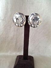"""Rare Robert Lee Morris Sterling Silver """"Tweetie"""" Clip Earrings 32.8 GW"""