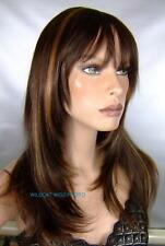 Fab Sharon Wig. HOT COLOR .. Chestnut Brown with Ginger *