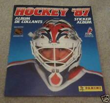 1987 PANINI NHL Hockey Unused Empty Sticker Grand Fuhr Oilers Album