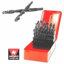 NEIKO 10175A - 29 PC High Speed Steel Drill Bit Set with Metal Storage Box - New