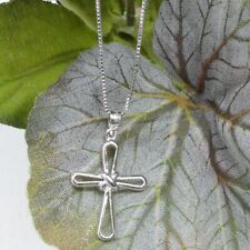 REAL SOLID SILVER 925 Classic Sterling Silver Necklace & Pendant  Cross-141