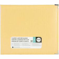 We R Memory Keepers 660911 Classic Leather D-ring Album 12x12 Buttercup