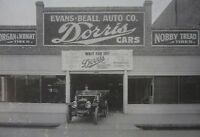 Antique Photo Dorris Automobile Dealership Evans Beall Auto Co Fresno CA 1911