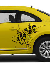 VW Beetle Custom Vinyl Graphic Decals 2 x Flower Vinyl Graphic Car Stickers