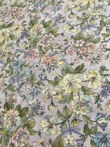 Graceful Garden Flowers on Lavender 100% cotton Fabric per yd. sewing /quilting