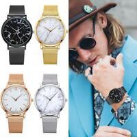Fashion Marble Dial Watch Women Mesh Strap Quartz Casual Analog Wristwatch Gift