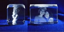 3d Laser Etched Engraving Custom Crystal Glass Photo Frame Wedding Birthday Gift