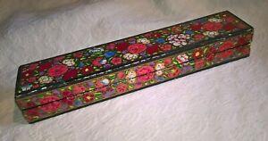 Papier Mache Long Painted Colourful Box