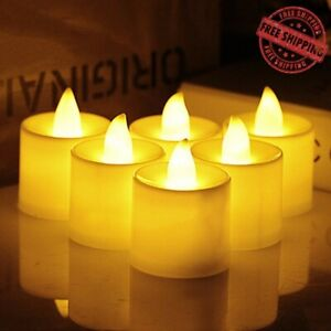 Modern LED Tea Light Candles Battery Powered Night Lamp for Home Cafe Decoration