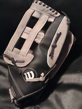 New listing Wilson Elite Black Gray Softball Glove Size A2444 Right Throwing Hand