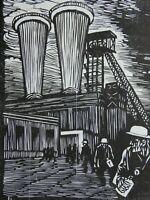 Conrad FELIXMÜLLER (1897-1977) - Bergleute auf der Zeche Schlägel und Eisen