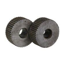 2PCS 19x6mm Steel Straight Pitch 1mm Linear Knurl Wheel Knurling Roller Tool