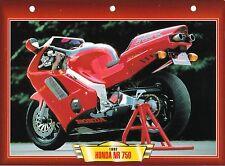 CARTE FICHE TECHNIQUE MOTO  / HONDA  NR 750 / 1992 /    NEUVE