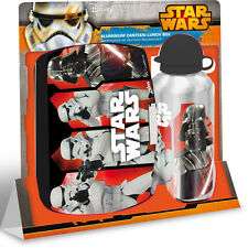 Star Wars set colazione Borraccia alluminio,scatola scuola,asilo,merenda