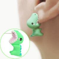 Novelty Animal Polymer Clay Earrings Stereoscopic Dinosaur Ear Stud Earring Gift