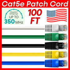 New Listing100 Ft Cat5e Patch Cord Cat5e Cable Lan Ethernet Rj45 Connector Internet Wire