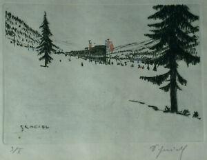Leopold SCHEIDL (1884-1958) Radierung Nr. 3/X Winterlandschaft