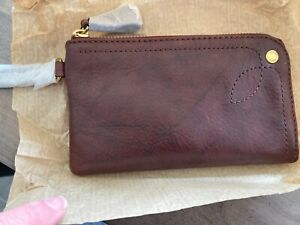 Frye Campus Rivet Wristlet Black Cherry Brand New in Box NWT