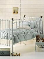 Green Linen Rags & Ruffles Cot Crib Baby Infant Nursery Blanket Quilt Cover Set
