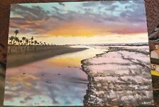 """Shaun Williams Original Oil Painting Seascape 9""""x12"""" Gallery Wrapped Frameless"""