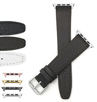Leather Watch Band for Apple Watch Series 6 5 4 3 2 38 40 42 44mm and Extra Long