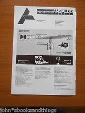 1980 BREDA COSTRUZIONI FERROVIARIE METROPOLITANA ROMA AUTOBUS SUBURBANO TRENI