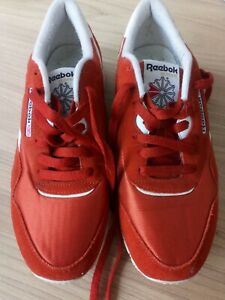 REEBOK CLASSIC NYLON retro running trainers size UK 7.5 burnt orange