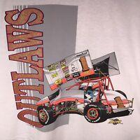 Outlaws XL Racing Sprint Car 1990 T Shirt NARC SCRA Dirt Track NOS