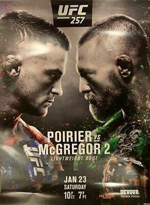 New Official Poirier vs McGregor 2 UFC 257 Fight Poster 18x24
