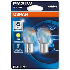 OSRAM DIADEMA py21w INDICATORE SEGNALE LAMPADINE (pacco doppio) 7507lda-02b