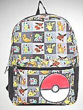 Pokemon Backpack Squares Group(EVERY POKEMON CHARACTER) WITH POKEBALL ON FRONT