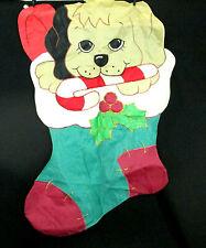 "Christmas Puppy Dog Flag Decorative 28""x40"" Stocking Outside Banner Garden"