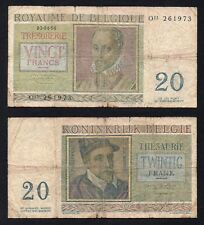20 francs Belgio -  Royaume De Belgique 1956 *