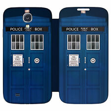 HEAD CASE POLICE BOX TELEPHONE BOX FLIP CASE FOR SAMSUNG GALAXY S4 I9500