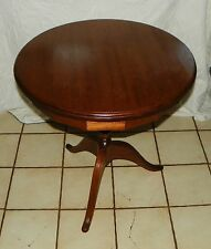 Round Walnut Lamp Table / Parlor Table  (BH-T75)