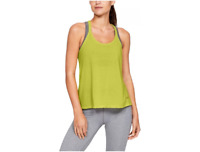 Under Armour UA Whisperlight Tank Foldover, Green, Size XS