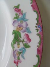 "RARE Early Minton 10"" Pink Floral Dinner Plate Pattern #654443 / B925 Excellent!"