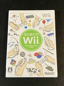 HAJIMETE NO WII: YOUR FIRST STEP TO WII Nintendo Japan Import NTSC-J RVL-R-RHAJ