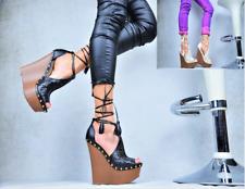 Neu Designer Sexy XXL Plateau High Heels Keilabsatz Damenschuhe Party Pumps